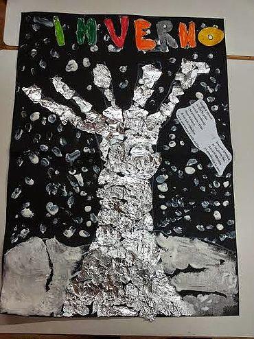 Lavoretti creativi per bambini inverno for Cartelloni di natale per la scuola dell infanzia