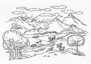 Paesaggi Di Montagna Disegni Visitdolomitiinfo